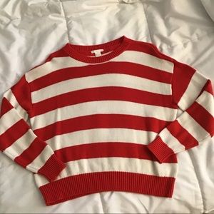 H&M Striped Sweater - Red and White